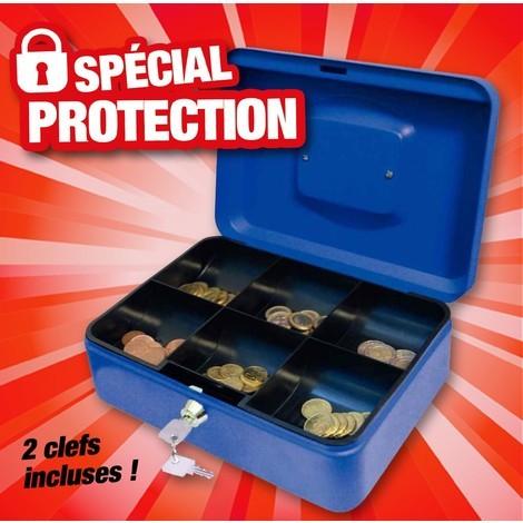 Casier à monnaie pour caisse à 6 compartiments