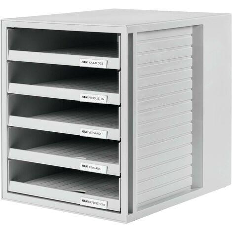 Casier de bureau ouvert HAN 1401-11, 275x330x320mm, gris clair, polystyrène (PS) Y23954
