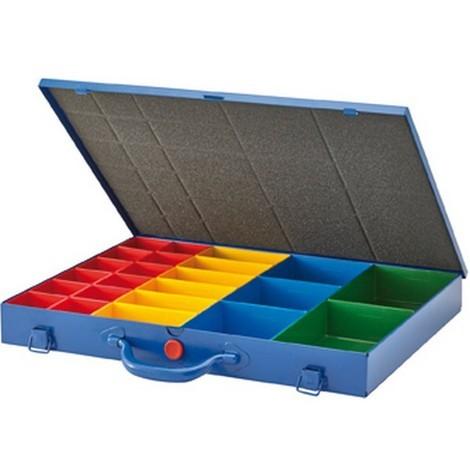 Casier De Rangement En Metal A 23 Boites En Plastique Interchangeables Dimensions 440 X 330 X 50 Mm 02020