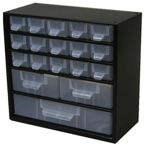 Casier metal 38 tiroirsassortis et separateurs et etiquettes 306x155x460