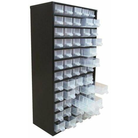 Casier metal 60 tiroirs et separateurs et etiquettes 306x155x551