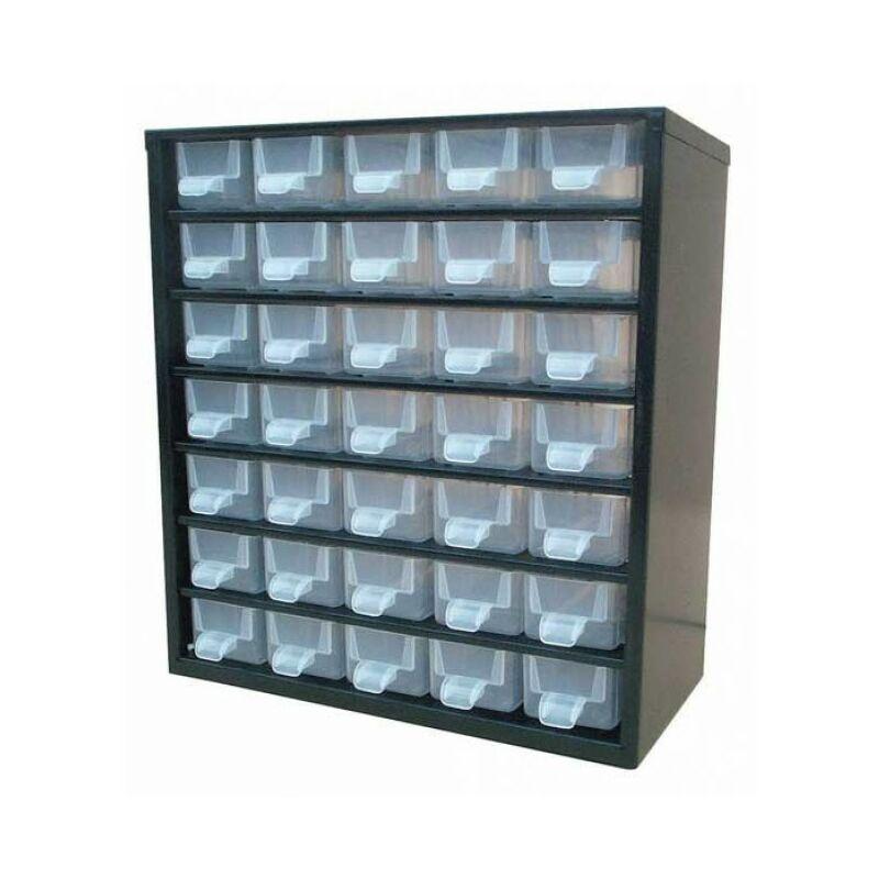 Système de rangement à 20 tiroirs pour composants électroniques et