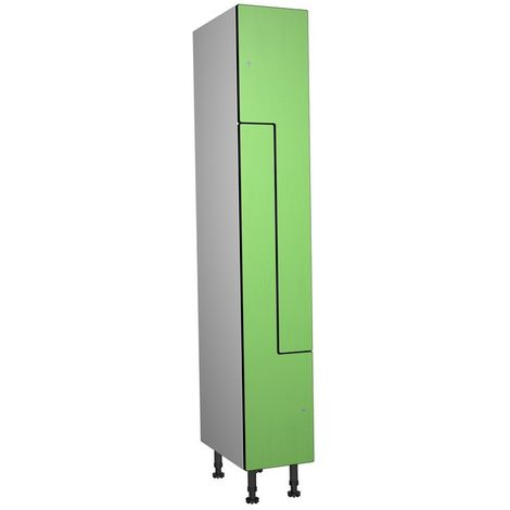 Casier Phénolique, 2 Portes Z, 317x1800x500 mm, Serradure À clé Vert
