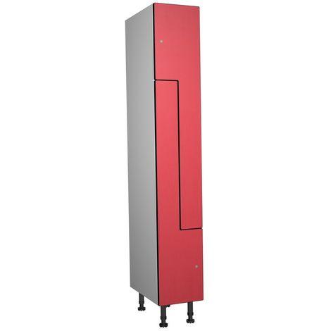 Casier Phénolique, 2 Portes Z, 317x1800x500 mm, Serrure À clé Rouge