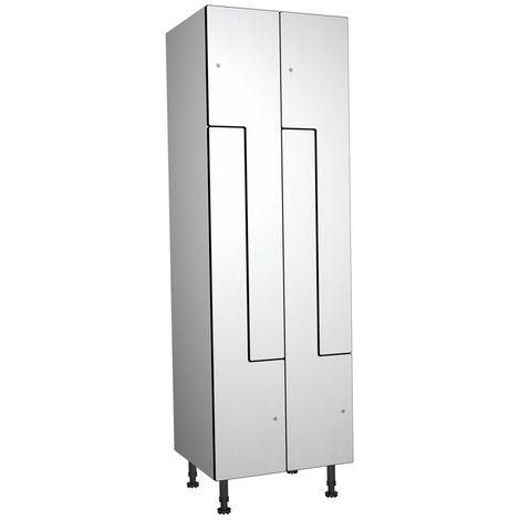 Casier Phénolique, 4 Portes Z, 612x1800x500 mm, Serrure À clé Blanc