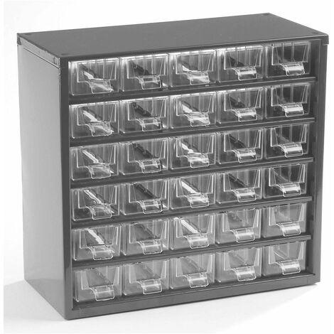 Casier pour vis   Rangement petits tiroirs   HxLxP 282 x 306 x 155 mm   8 compartiments   Gris clair   Certeo - Coloris du boîtier: gris clair