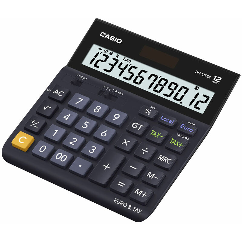 Image of DH-12TER-SK-UP 12 Digit Tax/ Euro Calculator - Casio