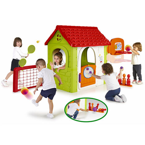 Casita de Juegos para niños CASA DE ACTIVIDADES MÚLTIPLES Feber