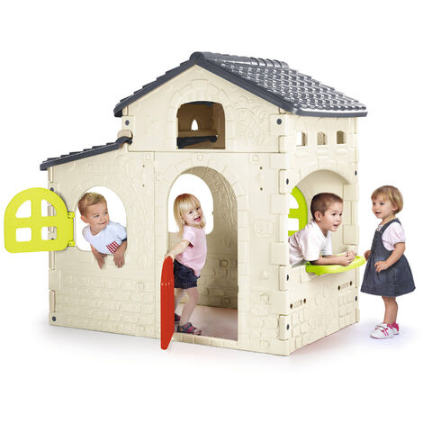 Casa de Juegos de plástico para niños Candy House Feber