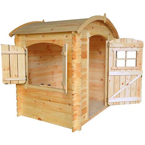Casita Infantil de Madera Outdoor Toys Bambi 1,63 m² de 146x112x145 cm