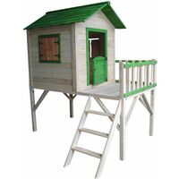 Casita Infantil de Madera Outdoor Toys Funny 188x161x216 cm - KNH1005 - Outdoor Toys