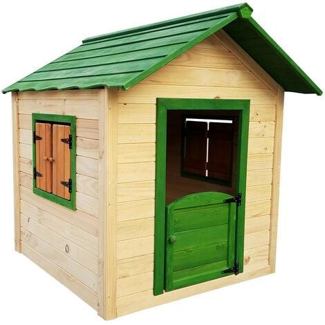 Casita Infantil de Madera Outdoor Toys Kela 1,6 m² de 138x116x132 cm