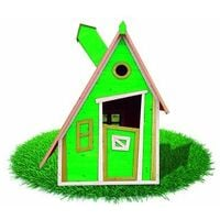 Casita Infantil de Madera Outdoor Toys Peter Pan (Verde) 122x102x174,5 cm - KSU12878 - OUTDOOR TOYS