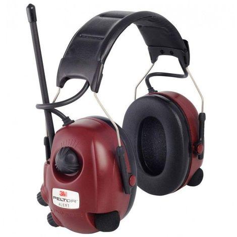 Casque anti-bruit radio FM Alert 3M Peltor - Rouge