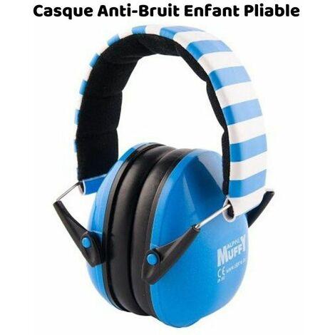 Casque Antibruit Enfant Muffy (PLIABLE) Alpine, Bleu et Blanc - Bleu