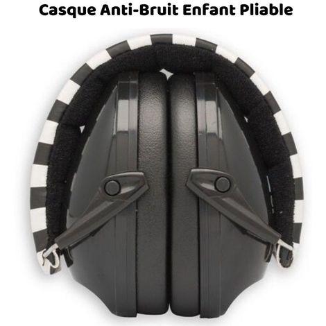 Casque Antibruit Enfant Muffy (PLIABLE) Alpine, Noir et Blanc, - noir