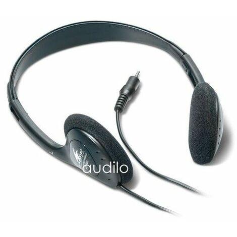 Casque audio stereo 3.5 universel Monacor - noir