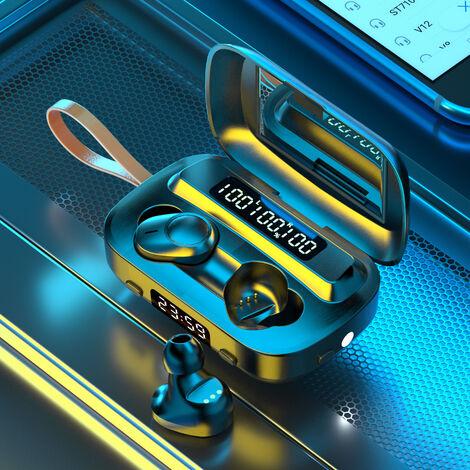 Casque Bluetooth Sans Fil, Avec Fonction D'Affichage Led, Lampe De Poche Integree