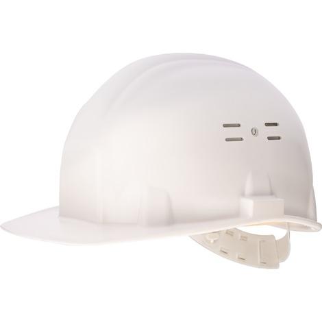 Casque de chantier calotte et harnais polyéthylène Outibat - Blanc