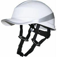 Casque de chantier DIAMOND V UP Blanc Fluo forme casquette baseball serrage rotor DELTA PLUS - DIAM5UPBCFL - -