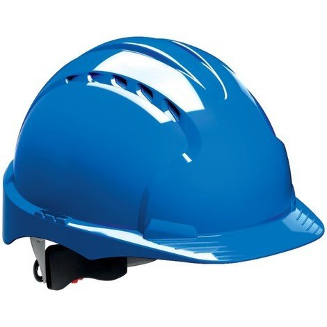 Casque de chantier EVO3 réglage a vis EN 397, bleu