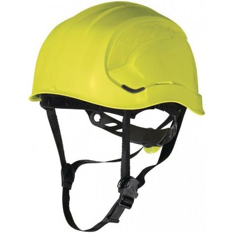 Casque de chantier style casque de montagne jaune