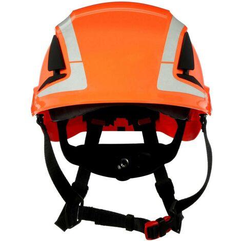 Casque de protection 3M X5007V-CE avec capteur UV, réfléchissant, avec aération orange EN 397, EN 12492 1 pc(s)