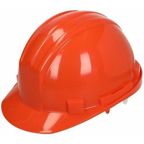 Casque de protection avec fixations à 6 points et anti rotation orange