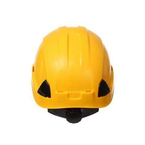 Casque de protection pour le travail à la hauteur jaune Pro L1040402 Lahti