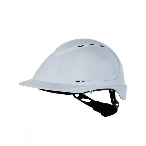 Casque de protection SINGER abs aéré blanc fix 8 points mousse bandeau anti transpiration confort coiffe textile 53-66 cm