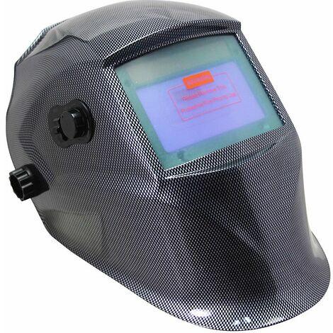 Casque de soudage automatique + 10 lunettes de rechange Masque au carbone solaire Ecran de soudage
