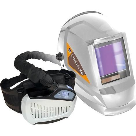 Casque de soudeur GYS LCD GYSMATIC 5/13 AIR XL avec protection respiratoire