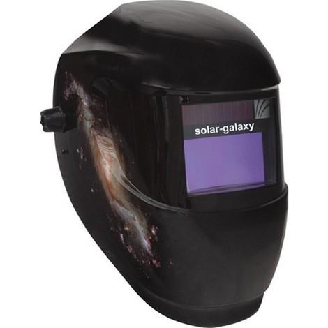 Casque de soudeur, Modèle : Casque automatique solar-galaxy, Vitesse de commutation clair-sombre 0,1 ms, Temps d'éclaircissement : en continu s