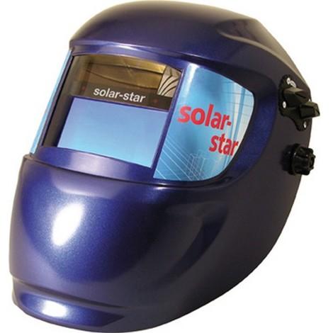 Casque de soudeur, Modèle : Casque automatique solar-star, Vitesse de commutation clair-sombre 0,1 ms, Temps d'éclaircissement : en continu s