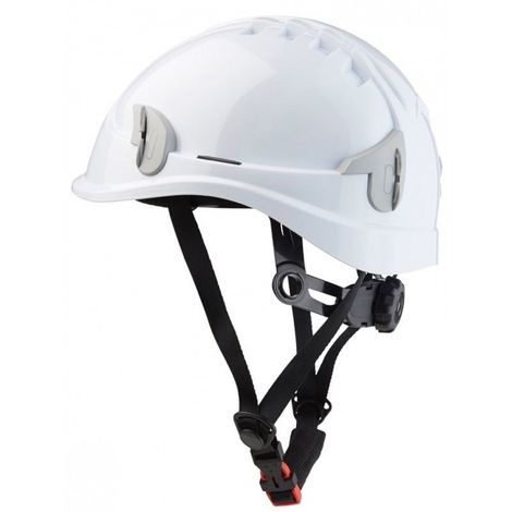 Casque de travail montagne blanc protection moins 30° SINGER aere + jugulaire mousse confort fixation 8 points