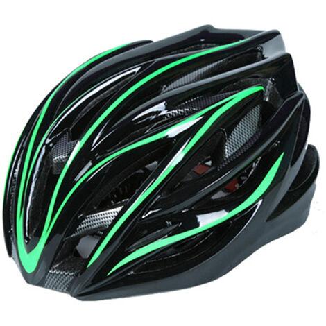 Casque d'equitation unisexe de velo unisexe, noir et vert