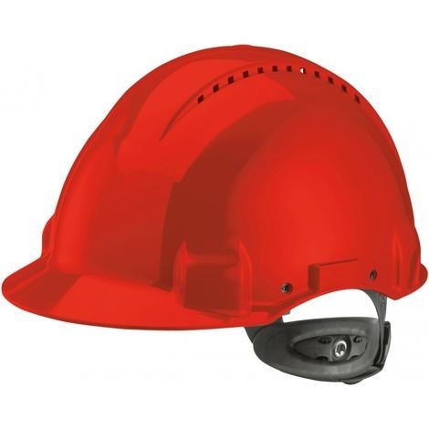 Casque G3000N,ABS, système de cliquet, rouge