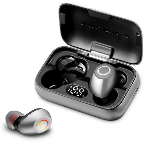 Casque sans fil Bluetooth écouteurs stéréo sport écouteurs IPX6 étanche Gris - Gris