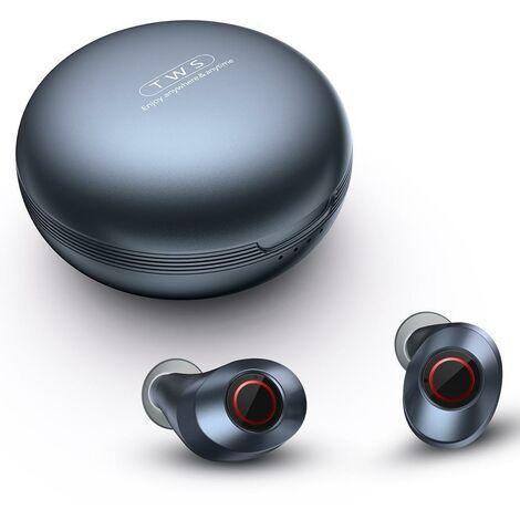 Casque sans fil Bluetooth Sports Stéréo IPX6 écouteurs Hi Fi étanches écouteurs - Noir