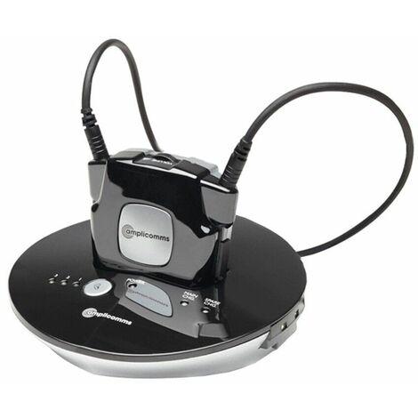 Casque TV avec collier magnétique 2510 NL Amplicomms - noir