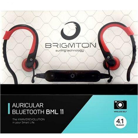 Casques Bluetooth avec Microphone BRIGMTON BML-11-R Rouge
