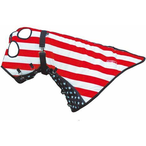 Casquette de cheval en tissu rembourré respirant 300g sous drapeau américain avec les yeux et les oreilles ouverts AmaHorse