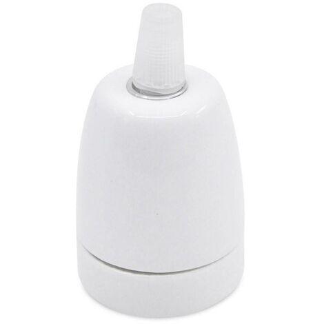 Casquillo de Cerámica blanco E27
