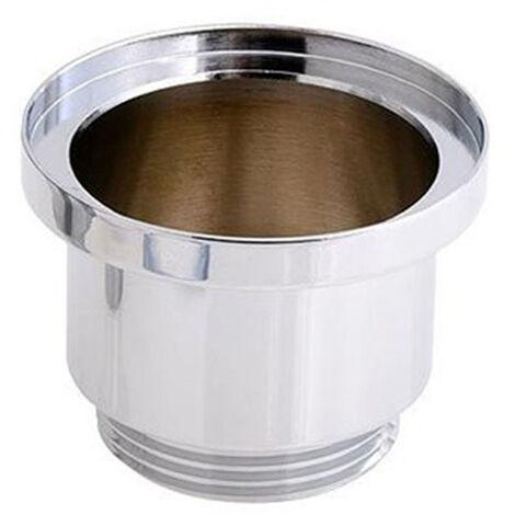Casquillo para válvula Clic Clac universal fabricado en latón con acabados en cromo brillo. Medida para válvula de desagüe push up de lavabos y bidets estándar. Repuestos garantizados Kibath