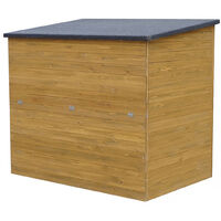 Cassa contenitore da giardino in legno Caja - 137 x 91 x 121 cm - Marrone