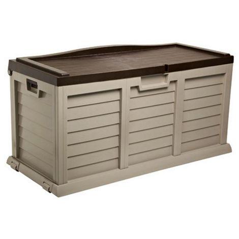 cassapanca con seduta box 440lt 140x61xh69cm marrone beige