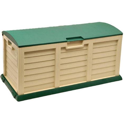Box Per Esterni Plastica.Cassapanca Contenitore Baule 140 Ruote In Resina Da Giardino Esterno Plastica