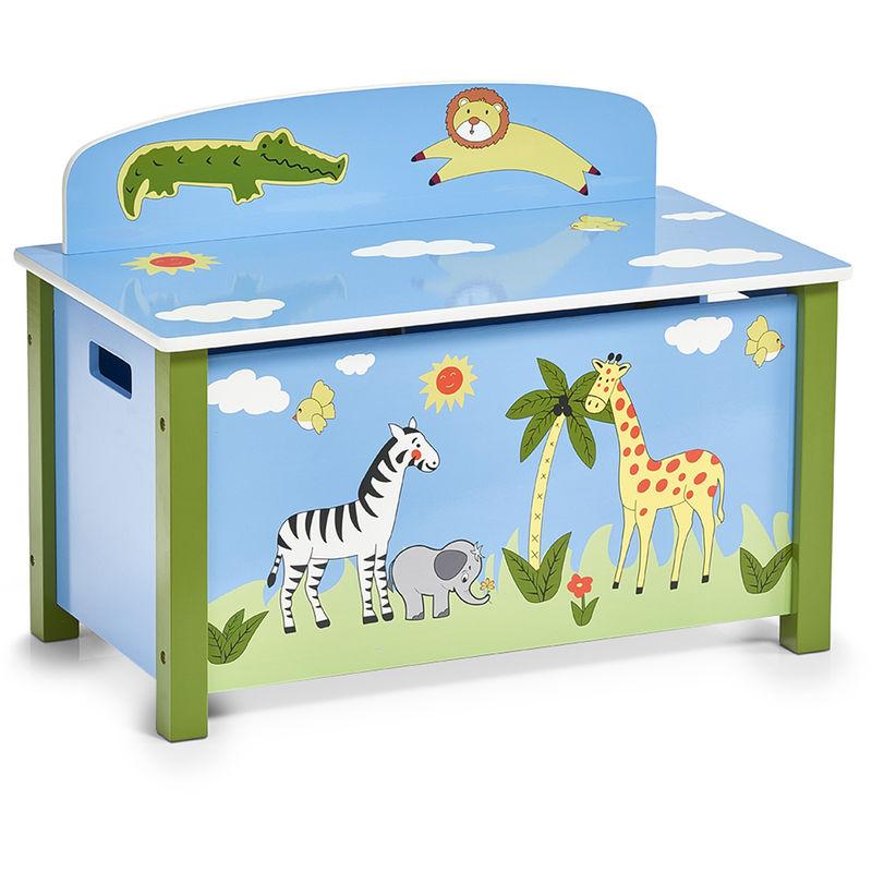 Cassapanca Legno Per Bambini.Cassapanca Per Bambini Safari 67x37x49 5 Cm