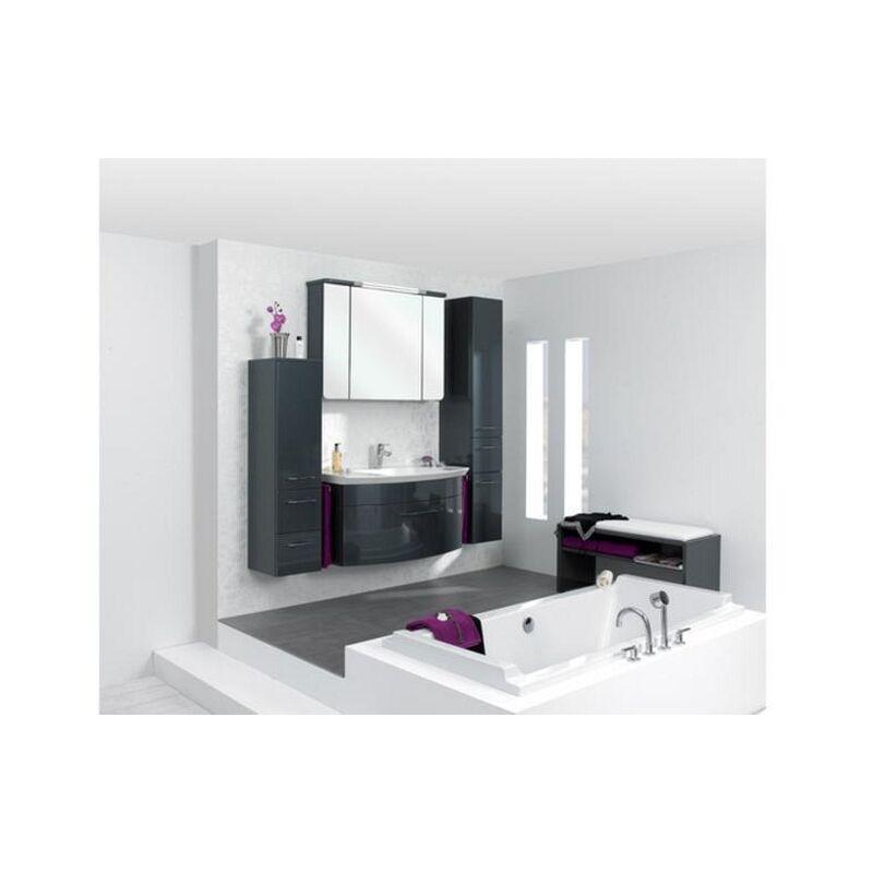 cassca Pelipal Badmöbel Set, 100cm bzw. 160cm Waschtisch Waschtischunterschrank Spiegelschrank Midi-/Hochschrank, A0365 x 1