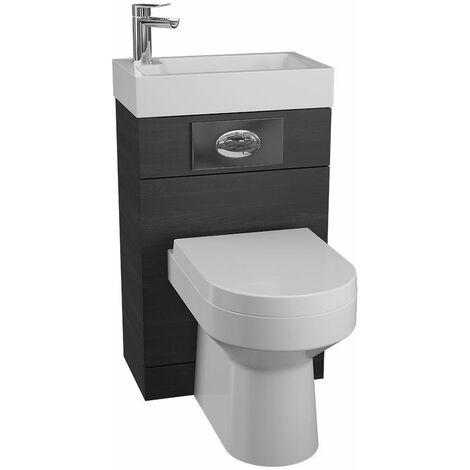Cassellie Black Ash Back to Wall BTW Unit Toilet WC Basin 500 x 305mm Bathroom